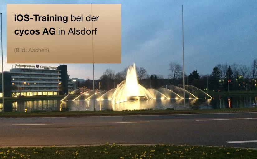 iOS-Training bei der cycos AG in Alsdorf bei Aachen