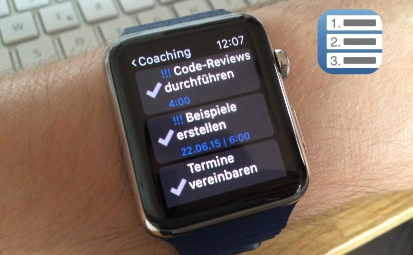 Priorities App V4.1: Apple Watch-Support, ToDo-Listen, Passcode-Lock