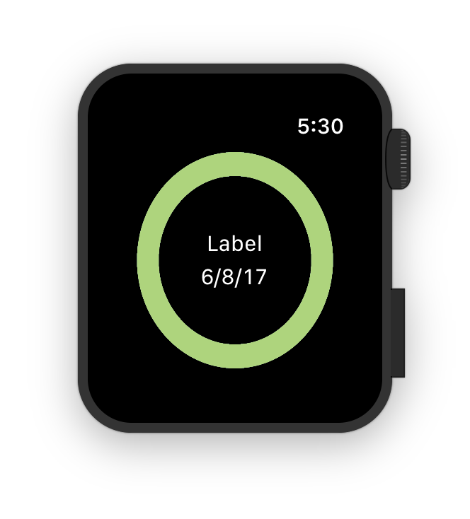 Ein Image-Interface-Element liegt hinter zwei Labels.