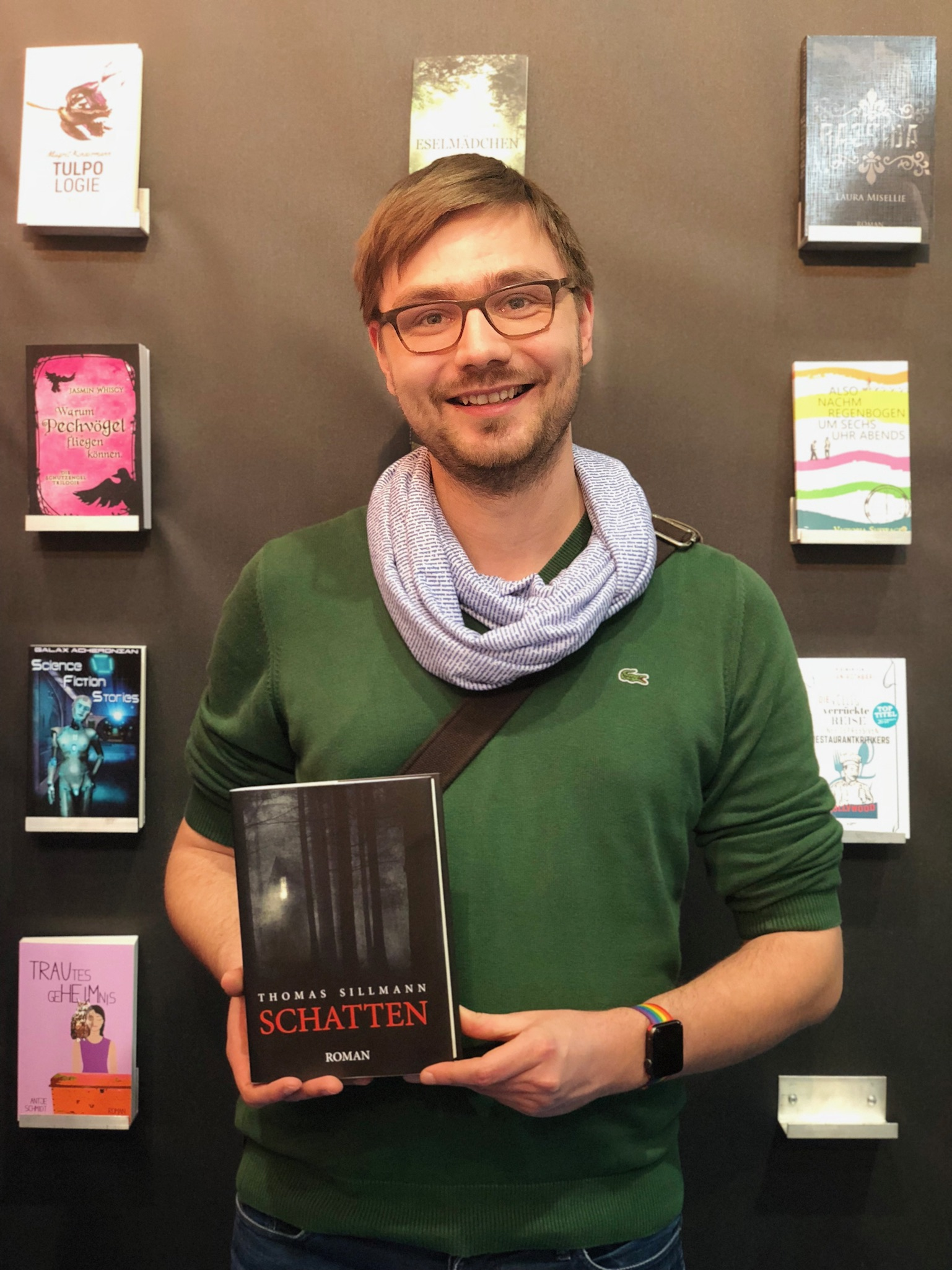 """Ich und mein Roman """"Schatten"""" auf der Leipziger Buchmesse."""